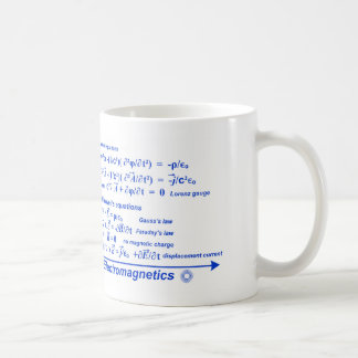 Electromagnetics Equations Mug with Blue Ink