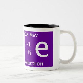 Electron (left handed) Two-Tone coffee mug