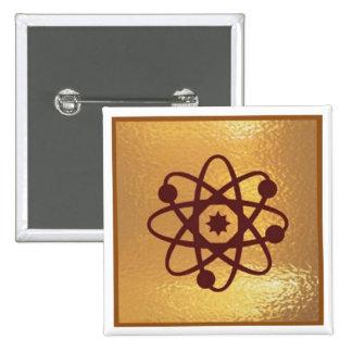 Electron Proton Ion Atom SIFI  - Medal Icon Gold 15 Cm Square Badge