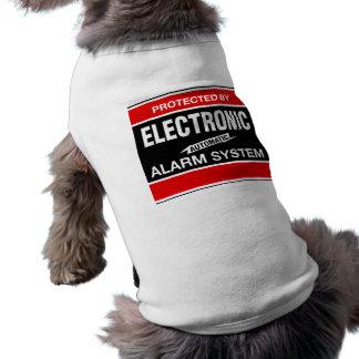 Electronic Alarm System Ribbed Tank Top Sleeveless Dog Shirt