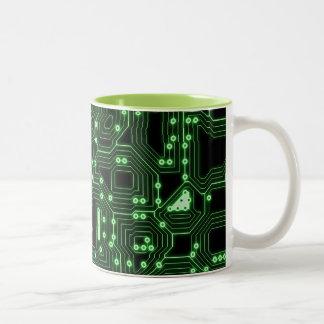Electronic circuit board Two-Tone coffee mug