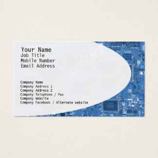 Electronic Circuits Blue Business Card