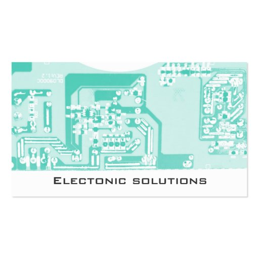 Electronic communication circuit board business business card