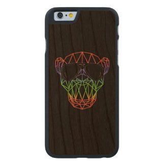Electronic Dance Monkey EDM RAVE Festival Carved Cherry iPhone 6 Case