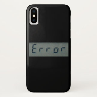 Electronic Error Message iPhone X Case