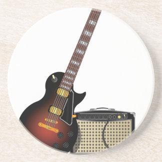 Electronic Guitar and Musical Amp Drink Coasters