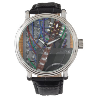 Electronic Guitar and Musical Amp Wrist Watches