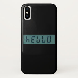 Electronic Hello Display Message iPhone X Case