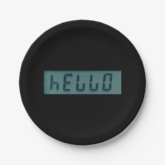 Electronic Hello Display Message Paper Plate