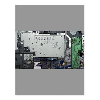 Electronic interior of a laser printer postcard