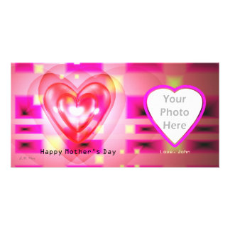 Electronic Mother's Day Hearts Custom Photo Card