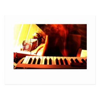Electronic music postcard