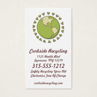 Electronic Recycling Eco Friendly Business Cards