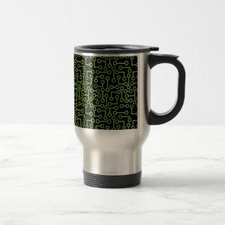 Electronic Seamless Background Mugs