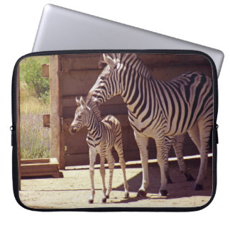 Electronics Bag- Zebra Mom & Baby Laptop Sleeve