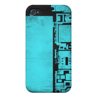 Electronics inside iPhone 4 / 4s case (blue) Case For The iPhone 4
