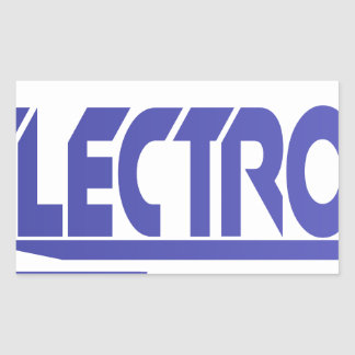 Electronics Rectangular Sticker