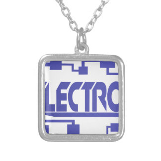 Electronics Silver Plated Necklace