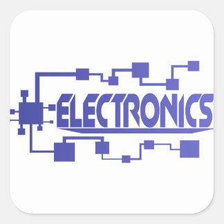 Electronics Square Sticker
