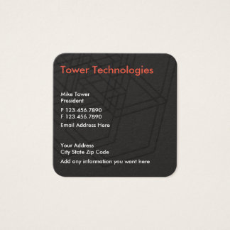 Electronics Technology Modern Design Square Business Card