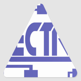Electronics Triangle Sticker