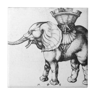 Elefant by Martin Schongauer Ceramic Tile