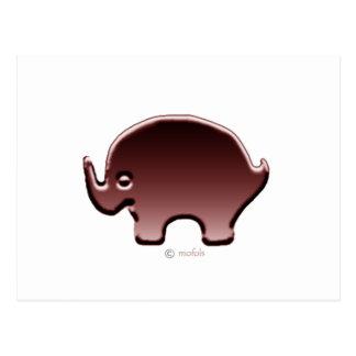 Elefante magenta postcard