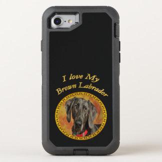 Elegan brown labrador canine puppy dog OtterBox defender iPhone 8/7 case