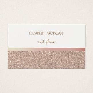 Elegan Modern Simple Glittery Bokeh Pink Stripes Business Card