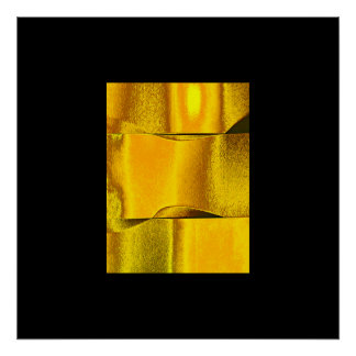 Elegance 3D Minimalism Gold Posters