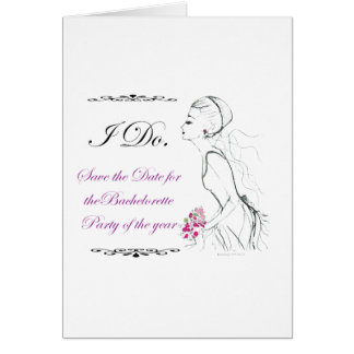 Elegance_bachelorette party greeting card