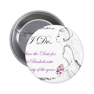 Elegance_bachelorette party pinback button