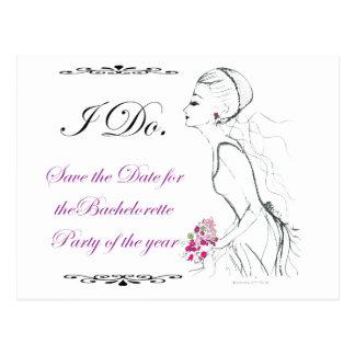 Elegance_bachelorette party postcard