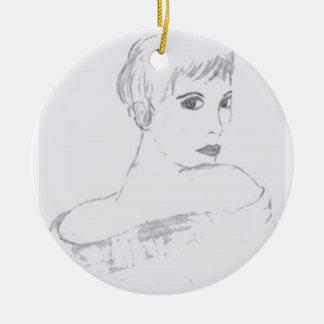 elegance black and white christmas tree ornaments