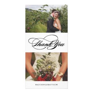 Elegance Collage | Wedding Thank You Photo Card
