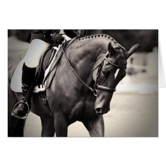 Elegance - Dressage Horse Greeting Card
