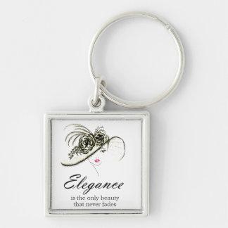 Elegance Fashion Quote Key Ring