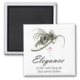 Elegance Fashion Quote Magnet
