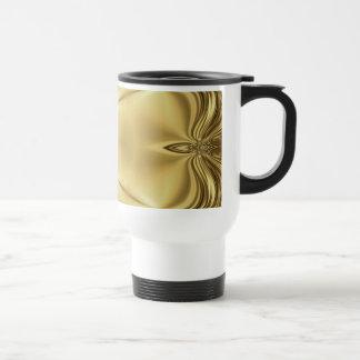 Elegance In Gold Stainless Steel Travel Mug