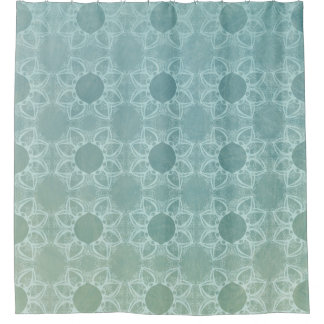 Elegance in Teal Shower Curtain