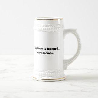 Elegance Is Learned... My Friends Coffee Mugs