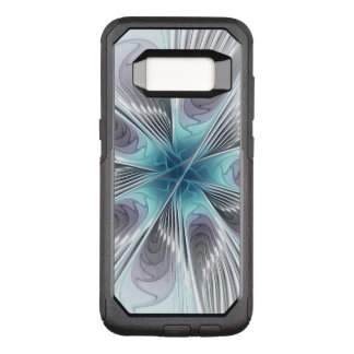 Elegance, Modern Blue Gray White Fractal Flower OtterBox Commuter Samsung Galaxy S8 Case