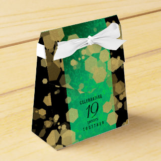Elegant 19th Jade Wedding Anniversary Celebration Favour Box