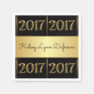 Elegant 2017 Personalized Graduation Disposable Serviettes