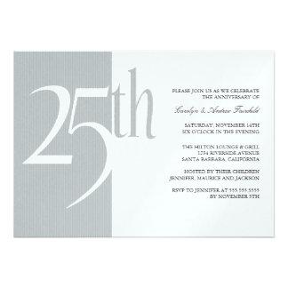 Elegant 25th Anniversary Party Invitations