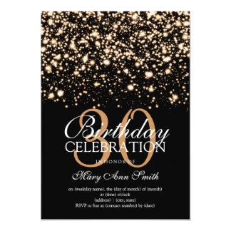 Elegant 30th Birthday Party Gold Midnight Glam Card