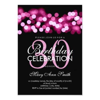 Elegant 30th Birthday Party Pink Hollywood Glam 13 Cm X 18 Cm Invitation Card
