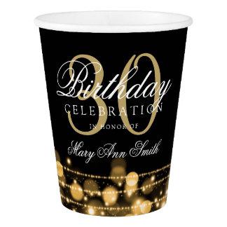 Elegant 30th Birthday Party Sparkles Gold