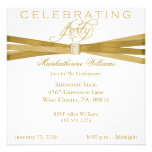 Elegant 40th Birthday Party Invitations