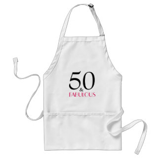 Elegant 50 and Fabulous Birthday Party Apron